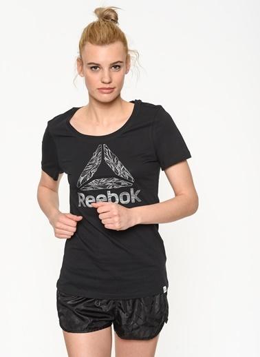 Reebok Baskılı Tişört Siyah